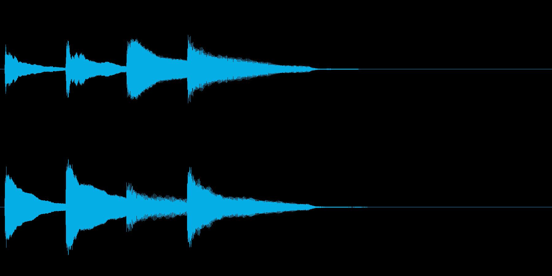 アナウンス後のピンポンパンポン・下降の再生済みの波形