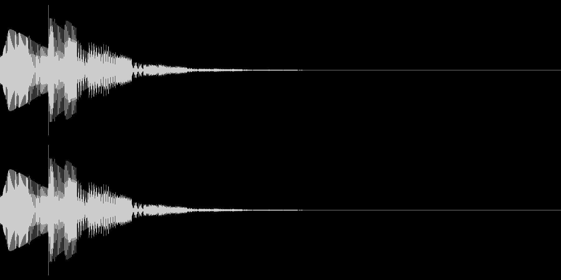 キャンセルなどのイメージのシステム効果音の未再生の波形