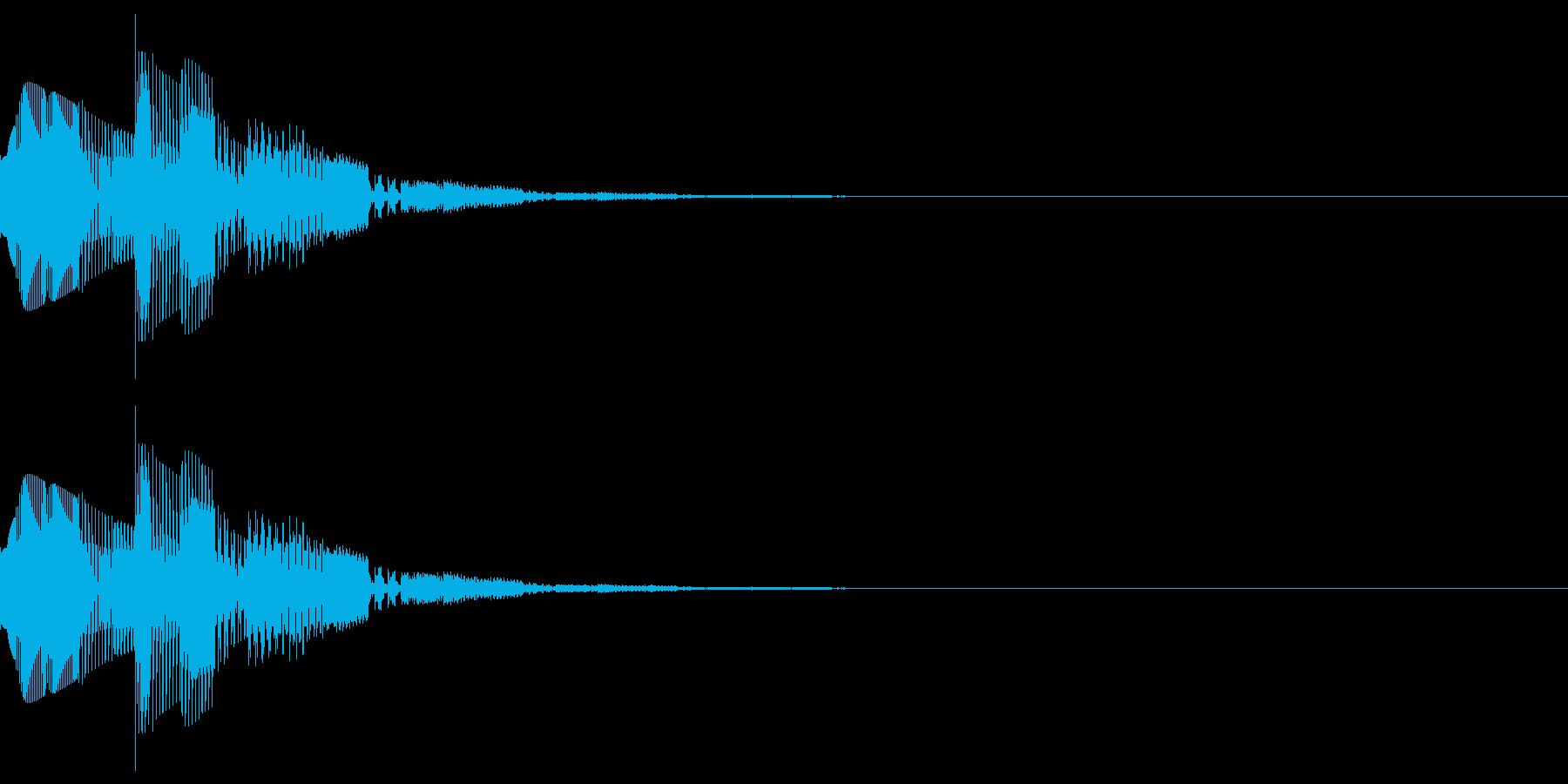 キャンセルなどのイメージのシステム効果音の再生済みの波形