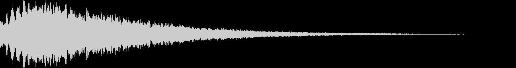 キラーン_場面転換の音の未再生の波形
