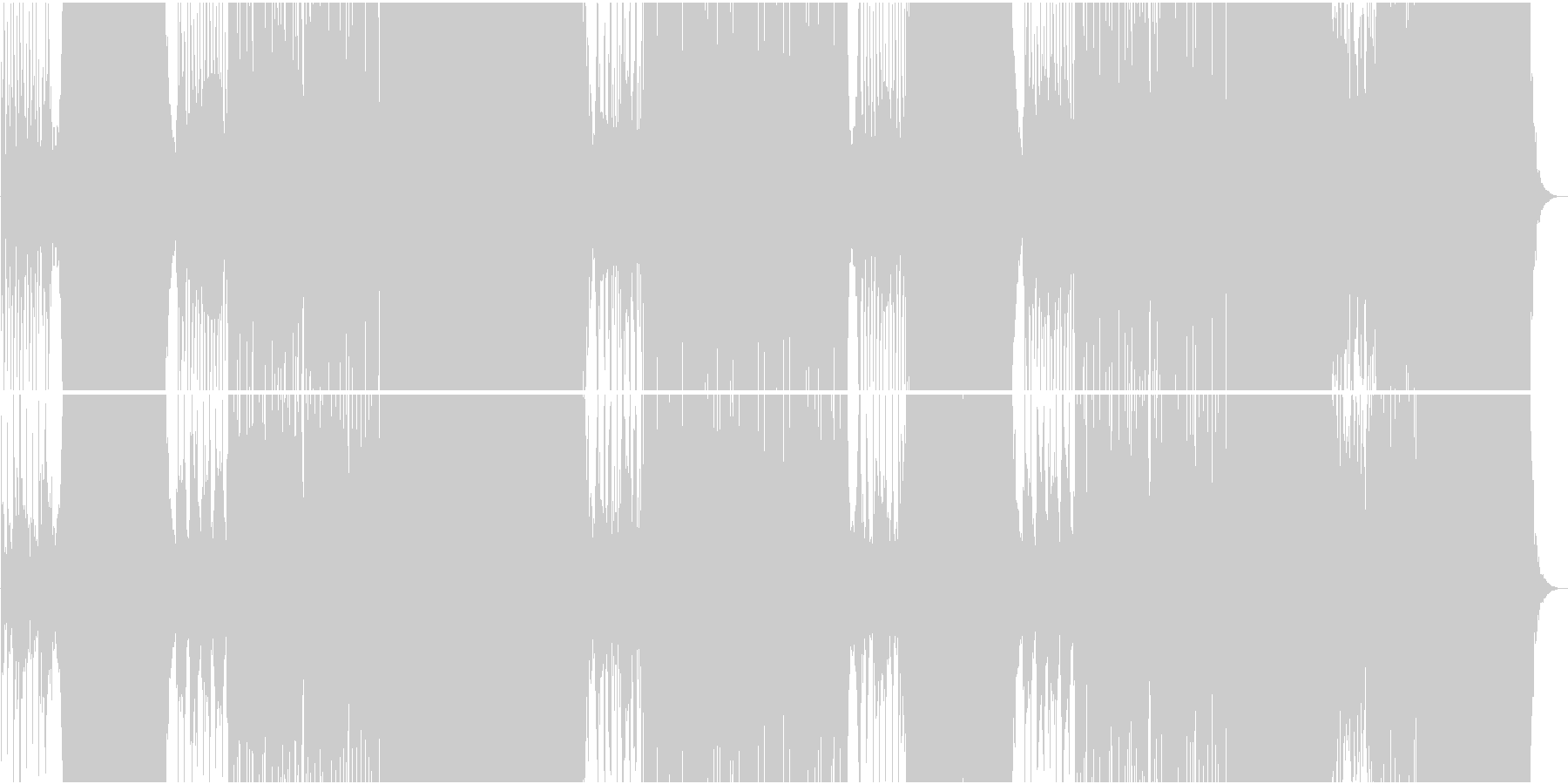 和風ほのぼのカワイイFutur Popの未再生の波形