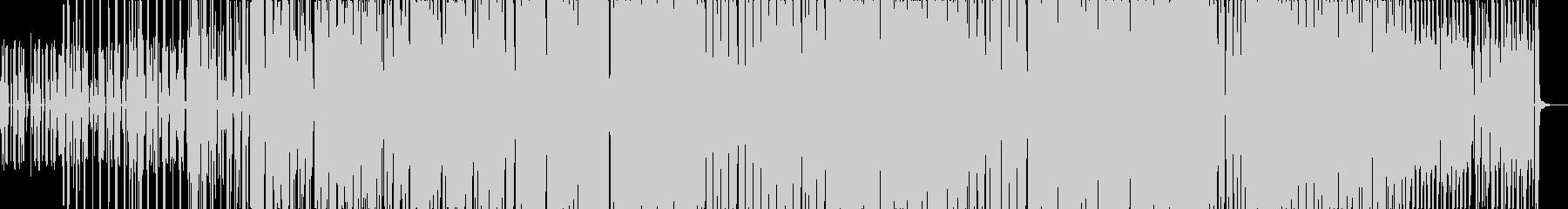 ユニークなボイスサウンドのテクノの未再生の波形