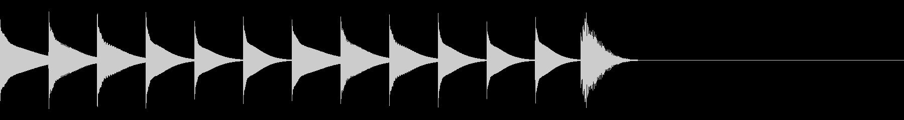 シロフォンを使ったサウンドロゴの未再生の波形