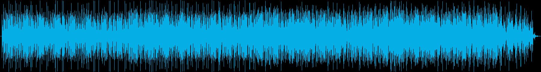 シリアスで緊張感のあるテクノの再生済みの波形