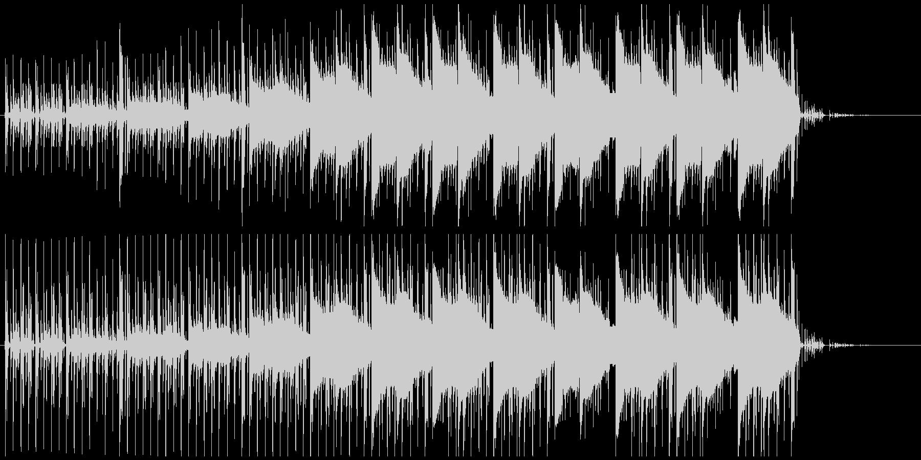 昼の森林の中を歩くイメージのBGMの未再生の波形