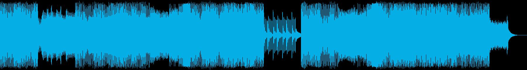 前向きでエモーショナルなピアノエレクトロの再生済みの波形