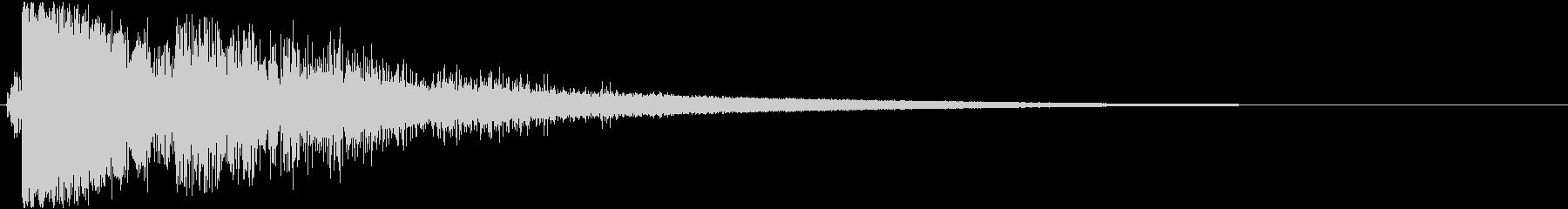 ザクッ 攻撃音の未再生の波形
