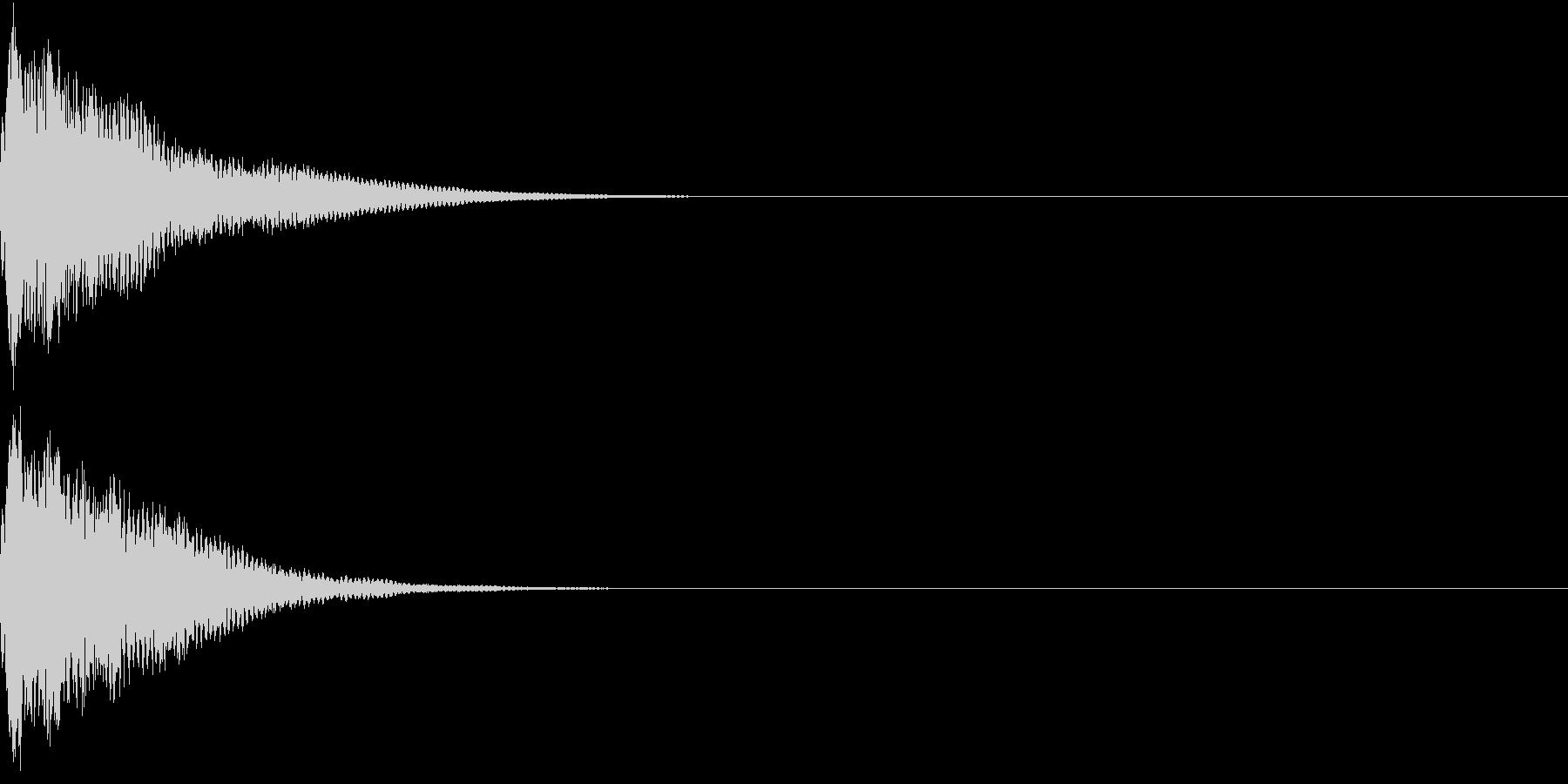 光る  輝く  キュピーン  キラーンFの未再生の波形