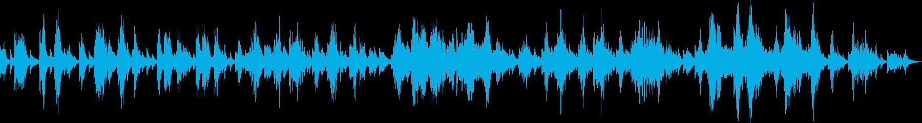 希望を感じさせる美しいピアノ曲(独奏)の再生済みの波形