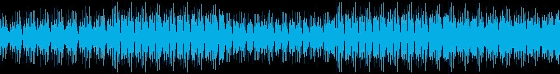 ほのぼのした夏の沖縄・映画・ループの再生済みの波形