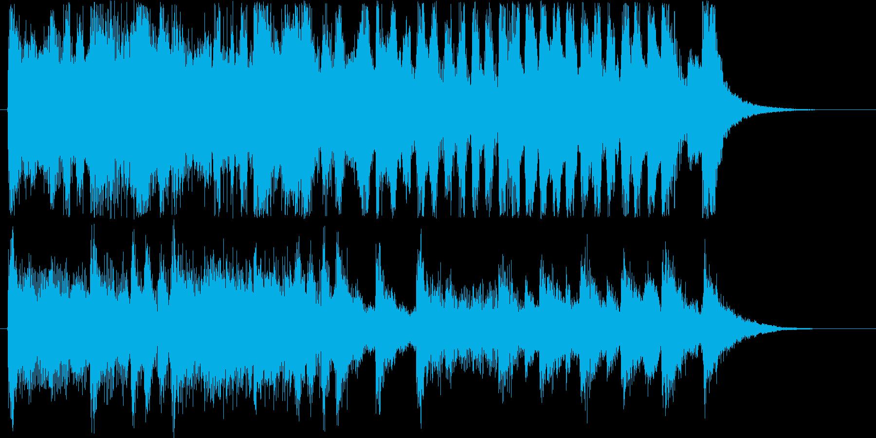 ポップなやる気の出る短めの効果音の再生済みの波形
