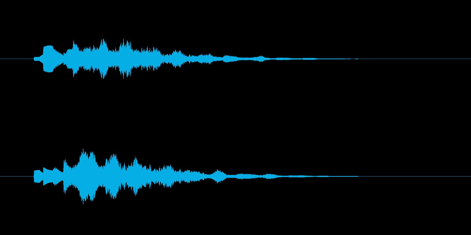 パソコンの起動音のようなアイキャッチの再生済みの波形