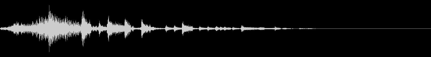 場面転換 クールなヒップホップ タイトルの未再生の波形