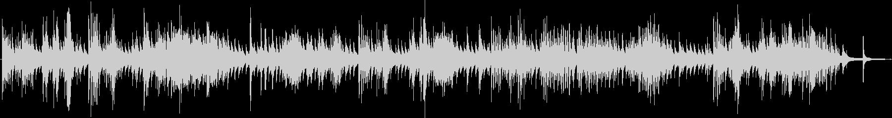 ピアノソロのホラーなBGMの未再生の波形