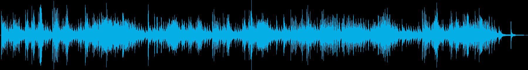 ピアノソロのホラーなBGMの再生済みの波形