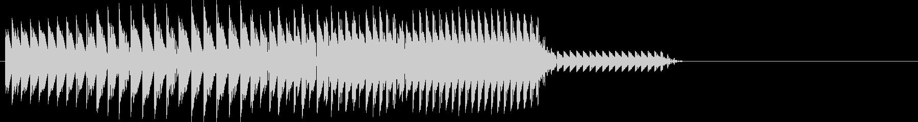 バファッ(ボタン音・装飾音・おもしろ)の未再生の波形