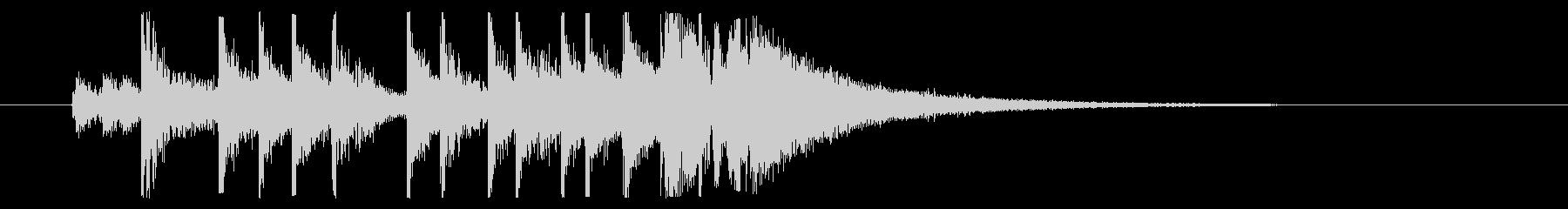 【ジングル】かっこいいロックドラムの未再生の波形