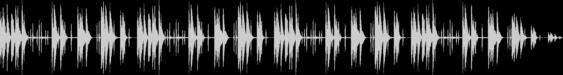ほのぼの木琴の優しいメロディの未再生の波形