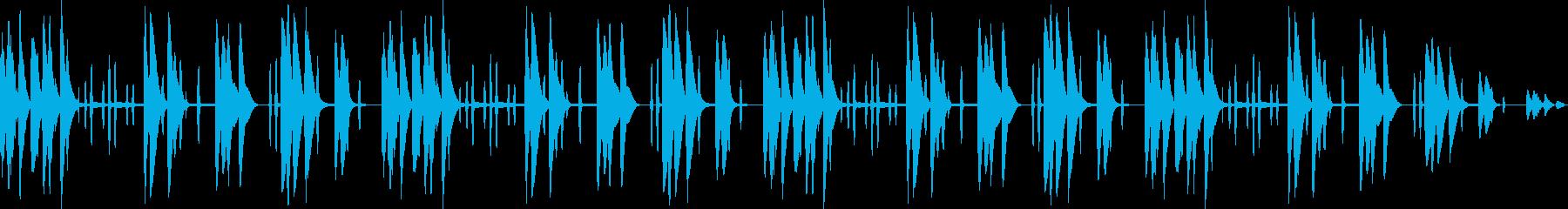 ほのぼの木琴の優しいメロディの再生済みの波形
