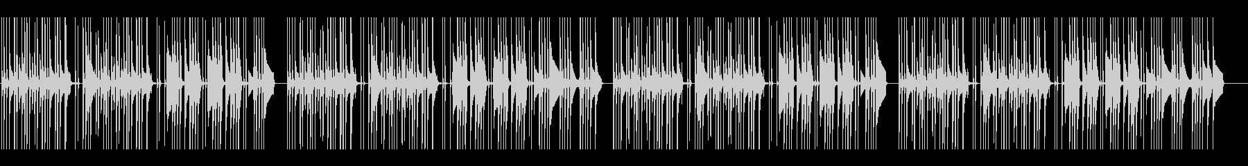 木琴で奏でるコミカルで不思議な曲の未再生の波形