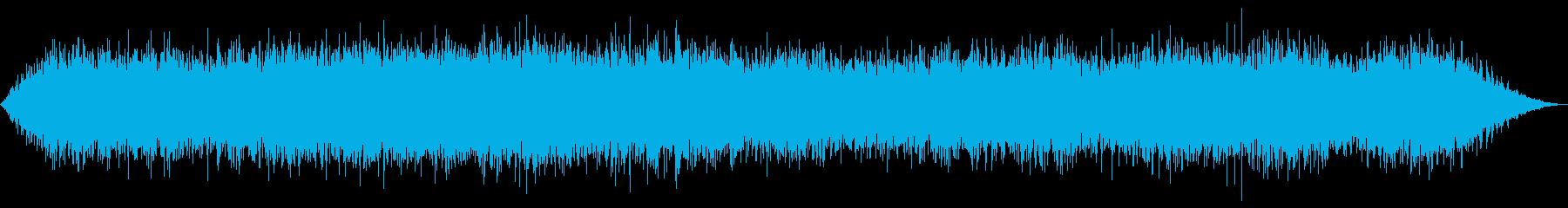 ハリケーン(強風と雨)の再生済みの波形