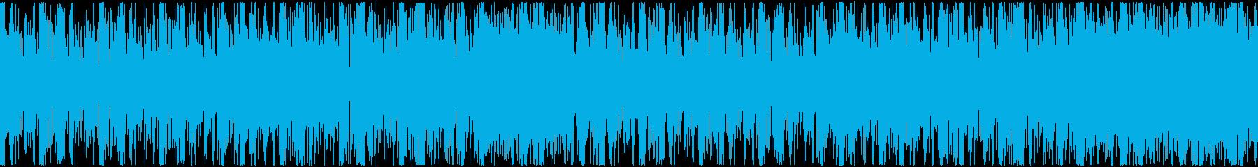 ゲームキャラ選択画面等 ロック風 ループの再生済みの波形