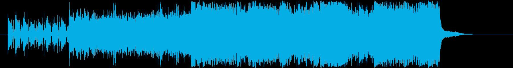 ウッドベースとハイハットによる緊迫感の再生済みの波形