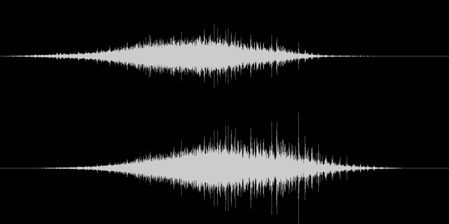 「シャラシャラ」数珠を擦った音 L-Rの未再生の波形