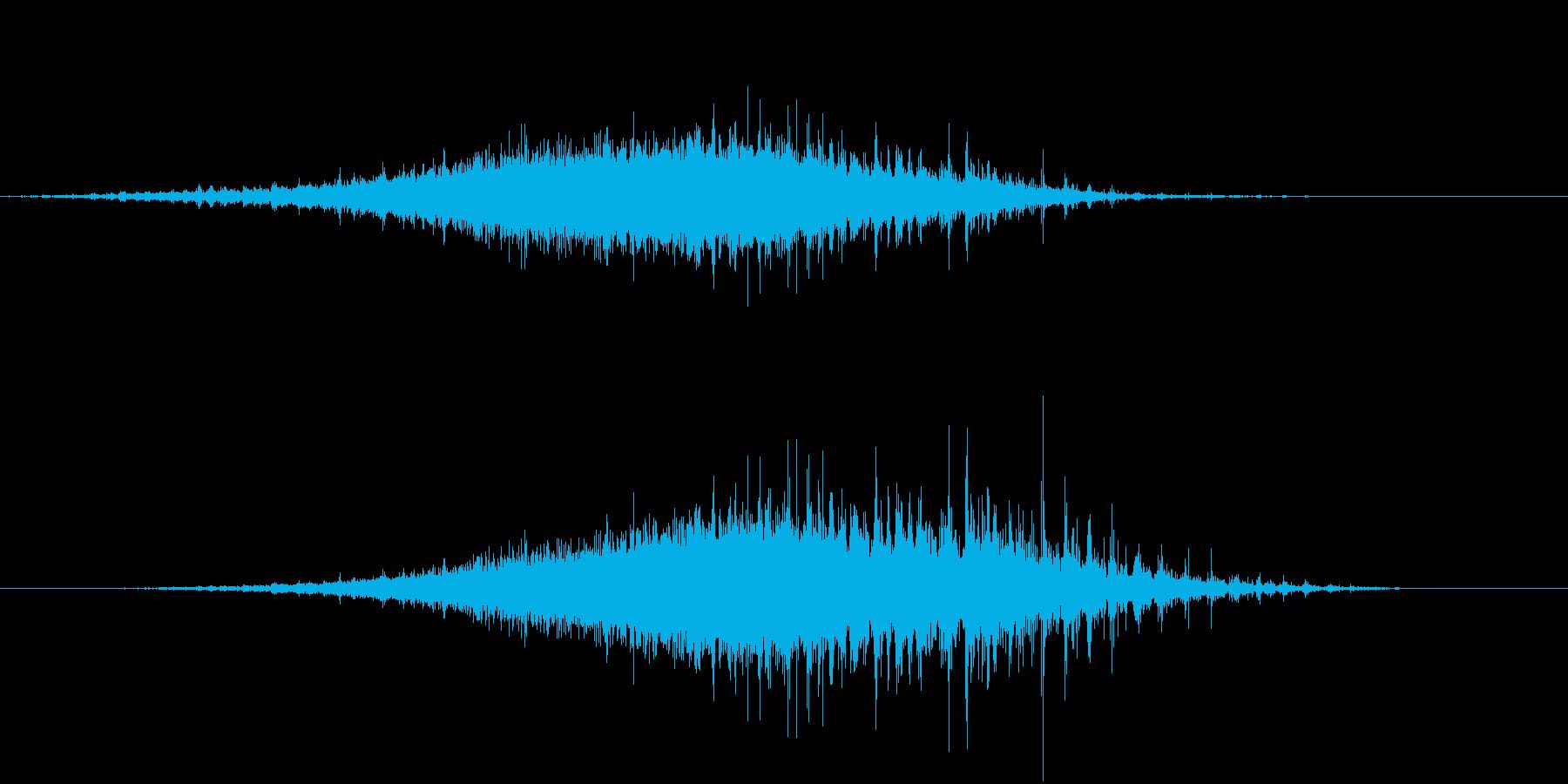 「シャラシャラ」数珠を擦った音 L-Rの再生済みの波形