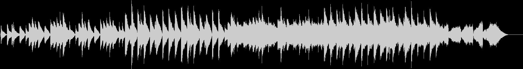 ピアノと弦楽器の音が特徴的のバラードの未再生の波形