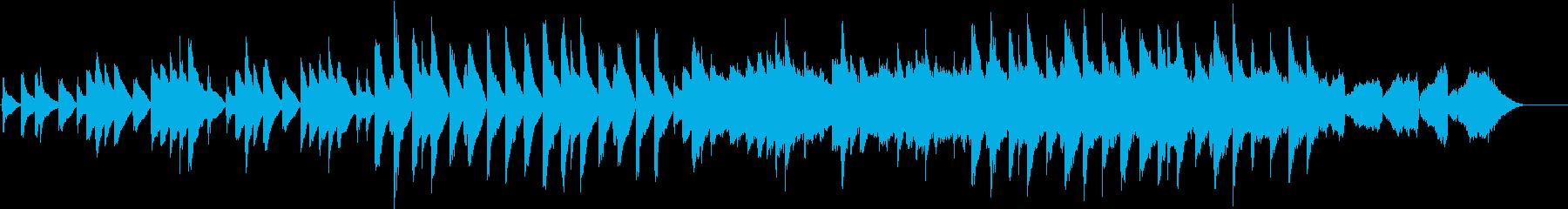 ピアノと弦楽器の音が特徴的のバラードの再生済みの波形