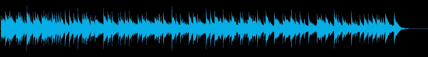 昔のヨーロッパの悲しげなハープ曲の再生済みの波形
