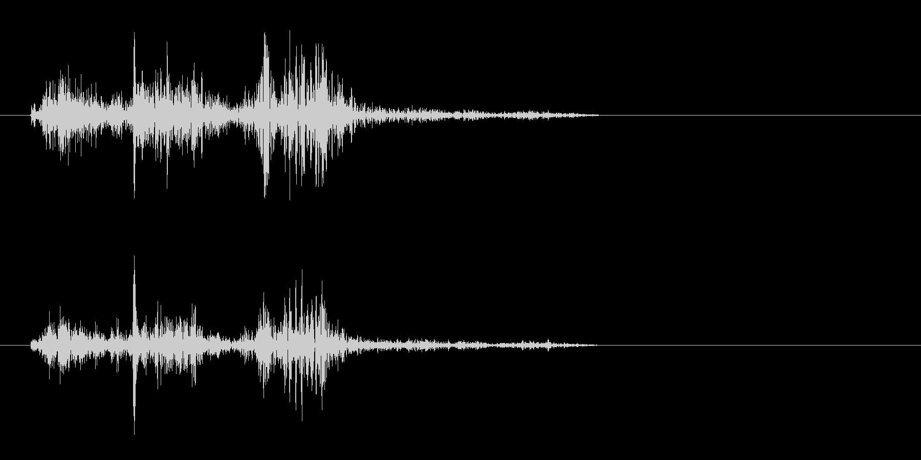ピャッ(摩擦系 紙をめくる04)の未再生の波形