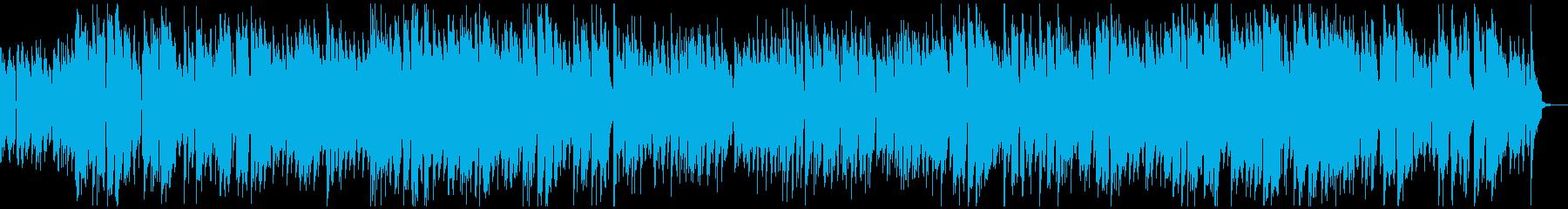 エレキギターによるほのぼのジャズの再生済みの波形