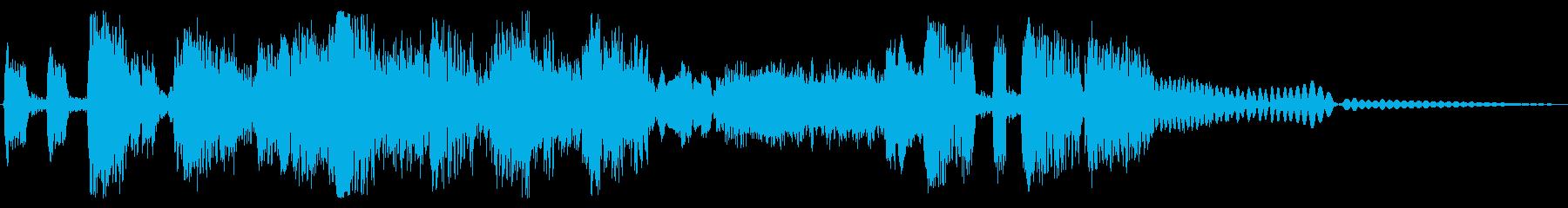 ジャジーで暗いジングル 4秒の再生済みの波形