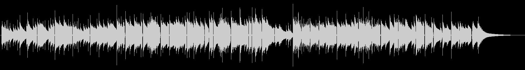 オルゴールの優しいメロディ 泣けるBGMの未再生の波形