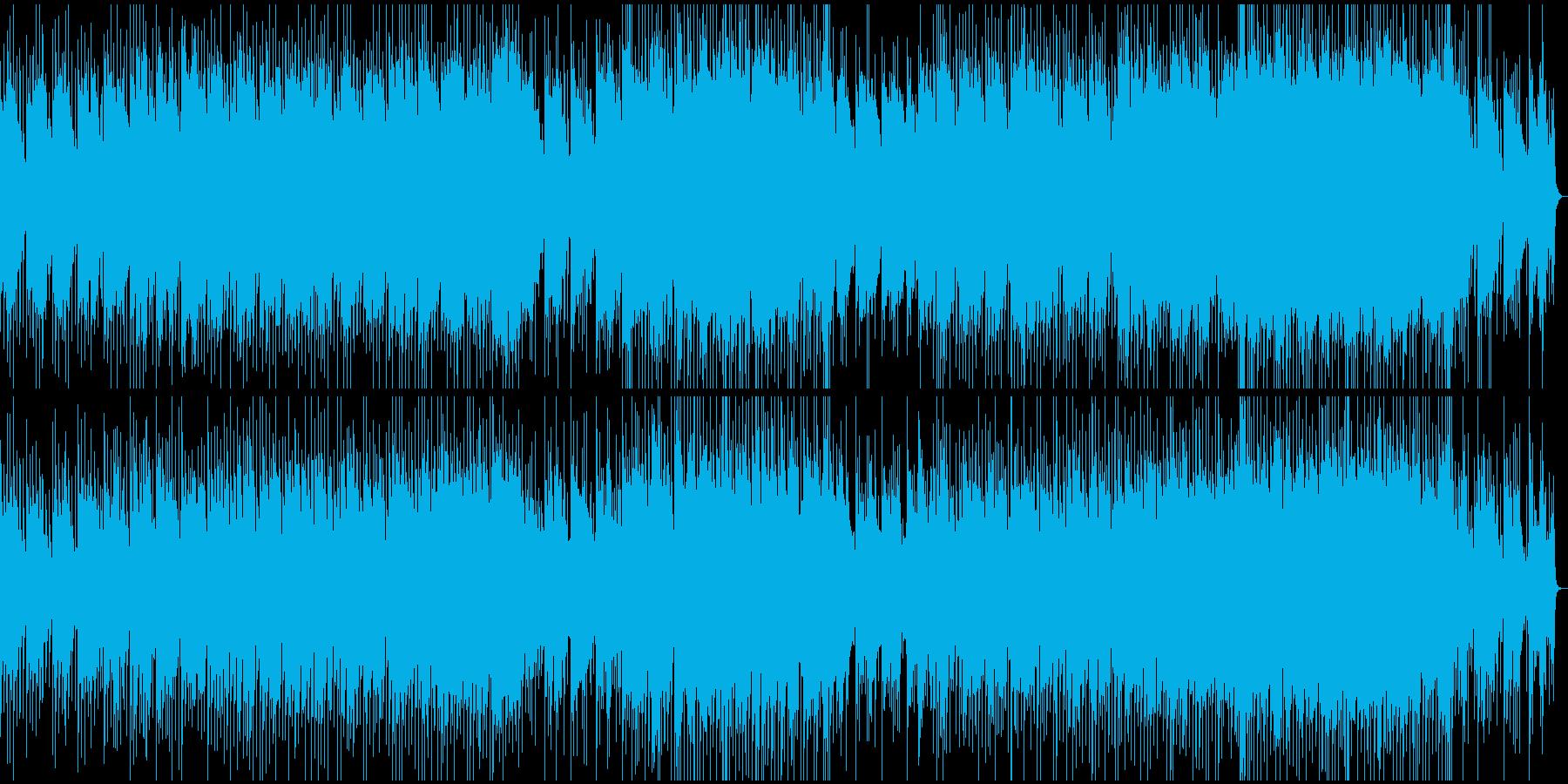 アコギメインの明るい爽やか曲の再生済みの波形