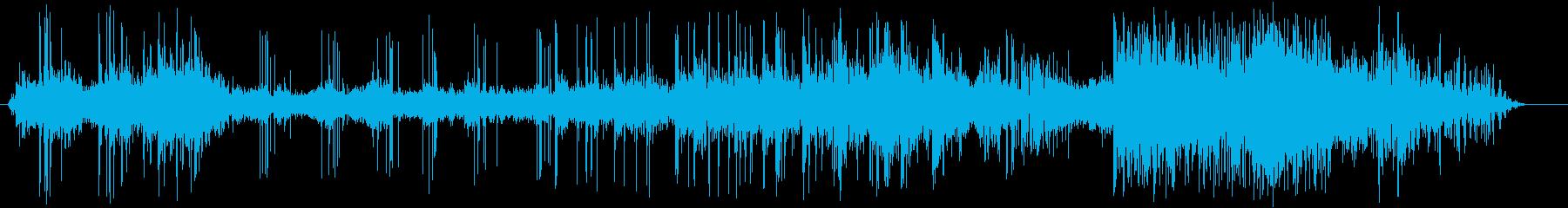 花火7拍手の再生済みの波形