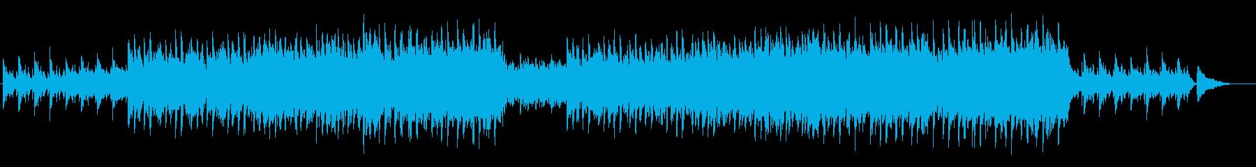 ピアノと弦中心の感動的なバラードの再生済みの波形