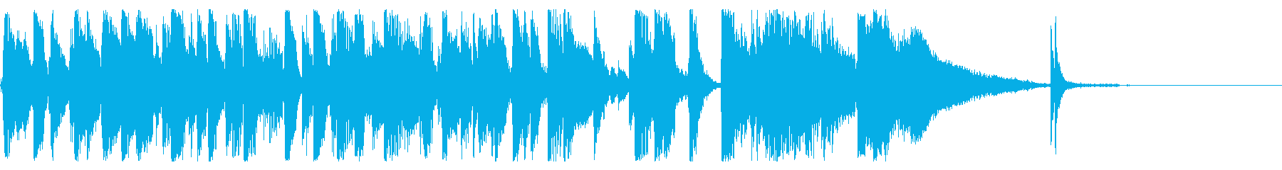 ワクワクする定番ジャズのオープニング曲の再生済みの波形