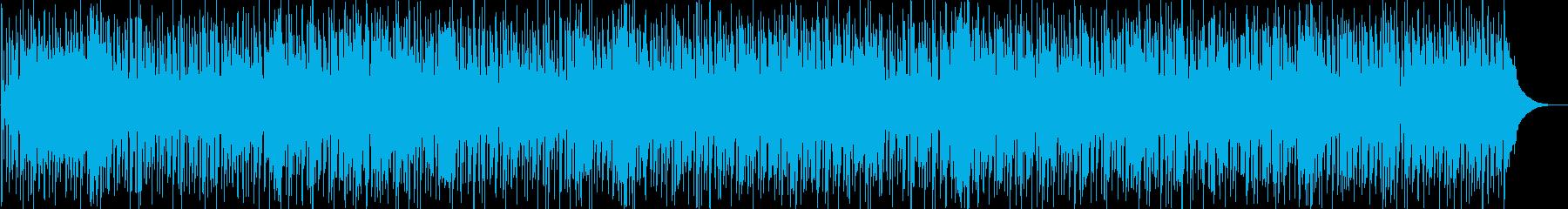 希望にあふれたカントリー調BGMの再生済みの波形