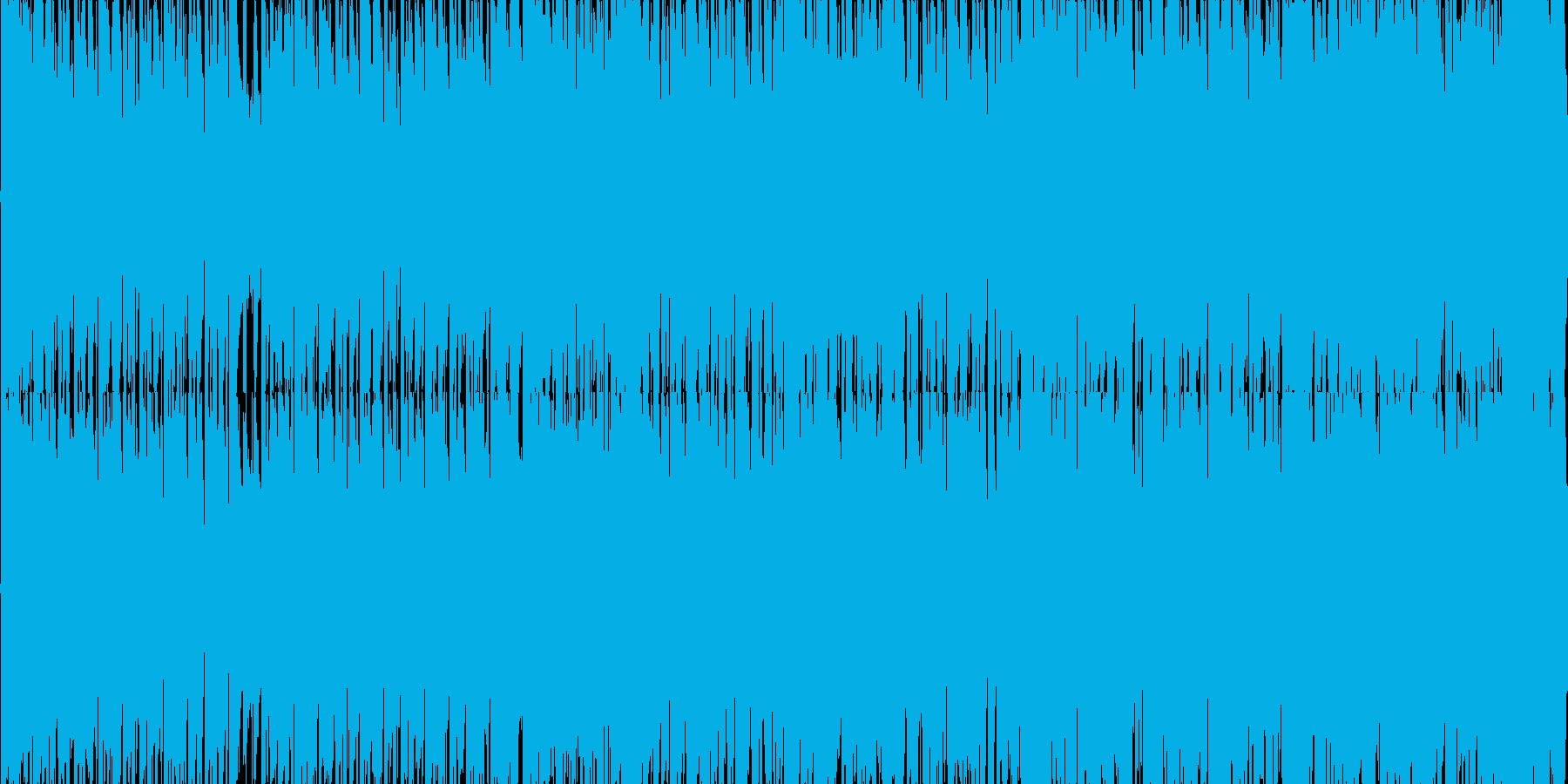 ファンキーなブラスセクションの4つ打ち の再生済みの波形