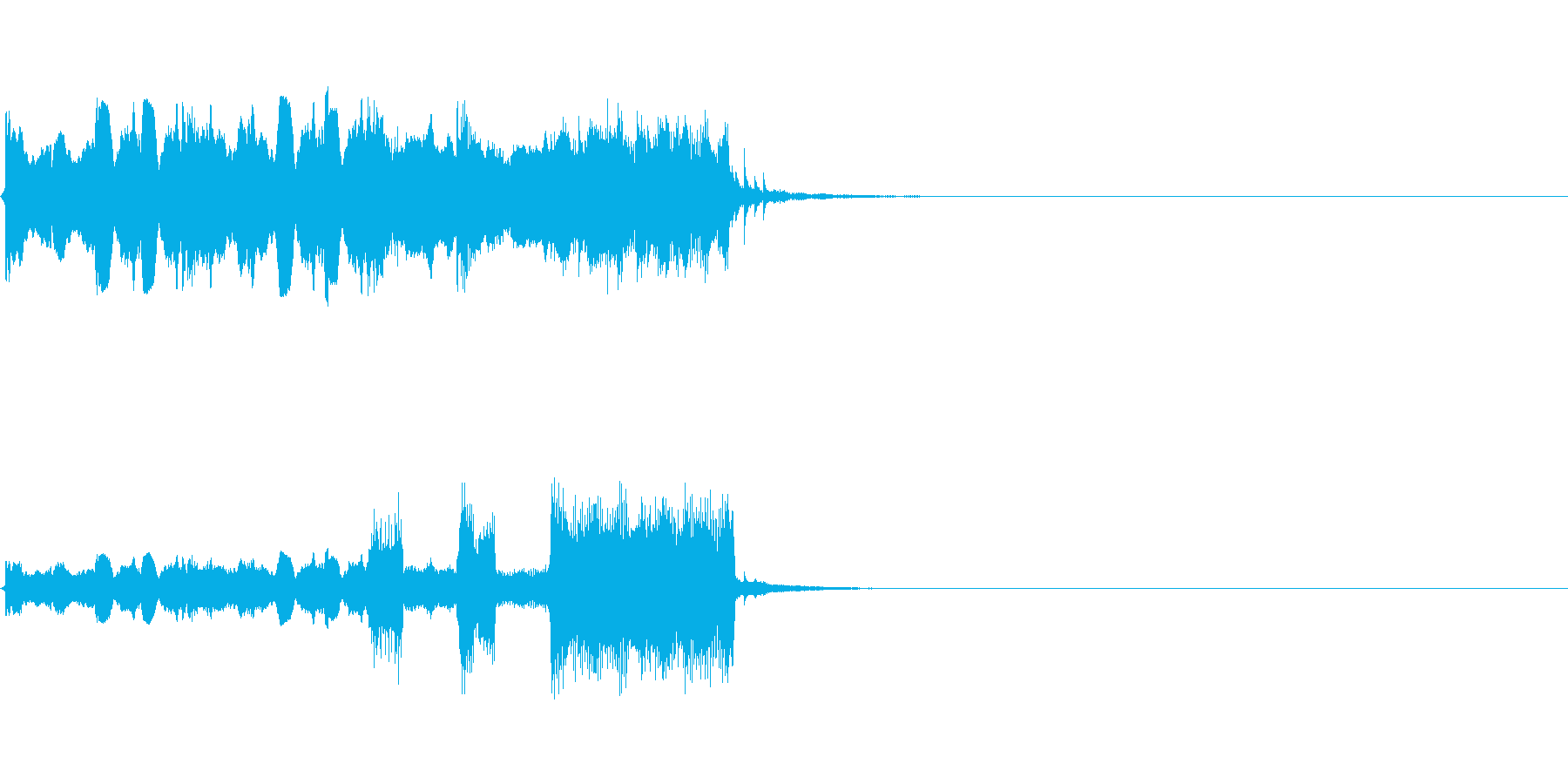 明るいアコーディオンジングルの再生済みの波形