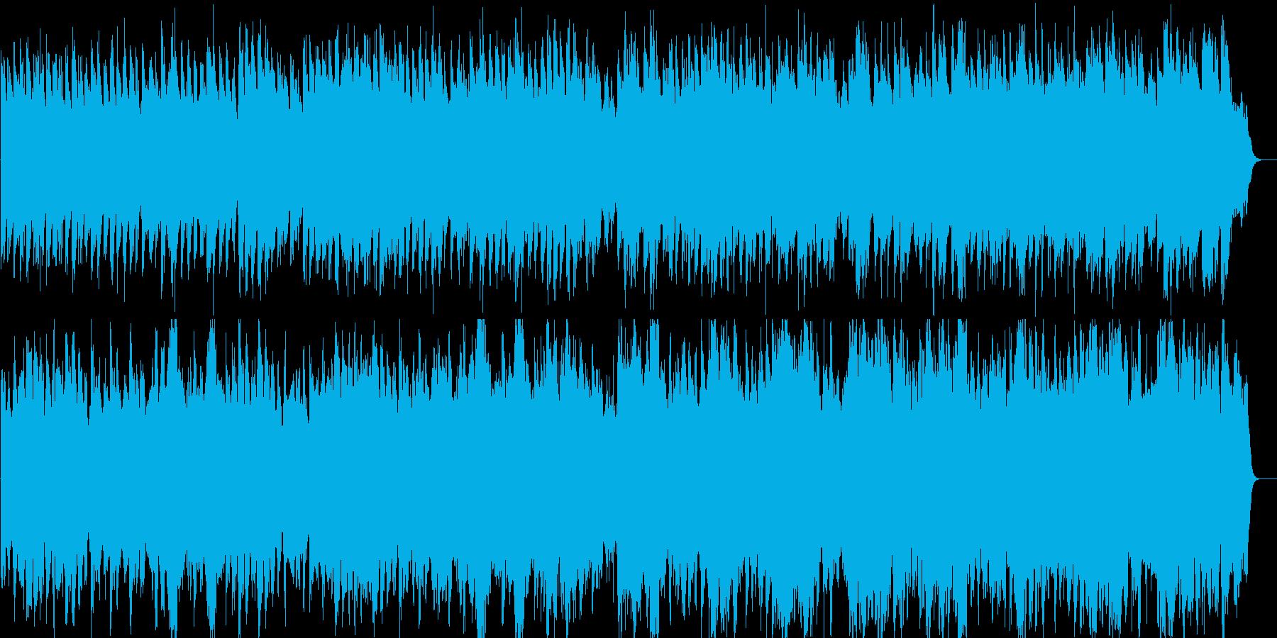 ゆったりとした優雅なワルツの再生済みの波形