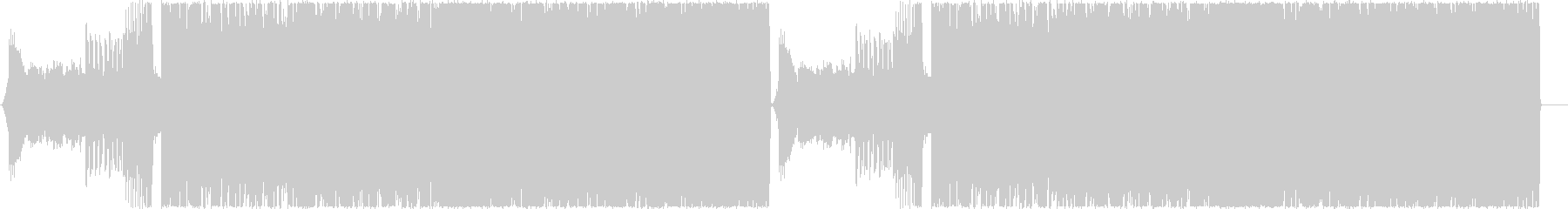 疾走感のあるハイテンポなデジタルロックAの未再生の波形