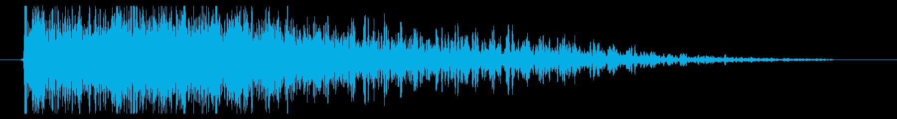 インパクトパワーダウンクイックスイープの再生済みの波形