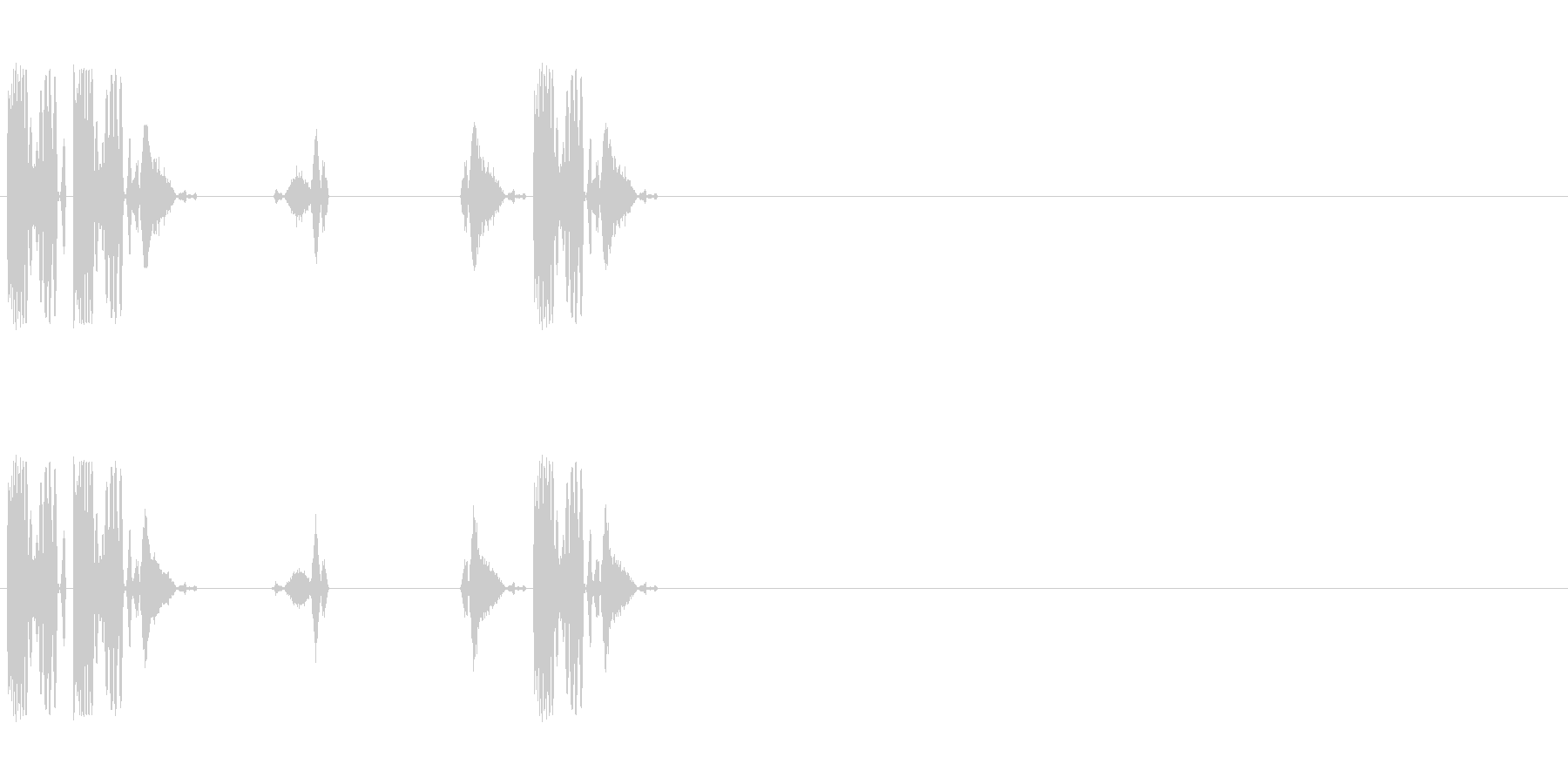 DJスクラッチ/ターンテーブル/E-04の未再生の波形