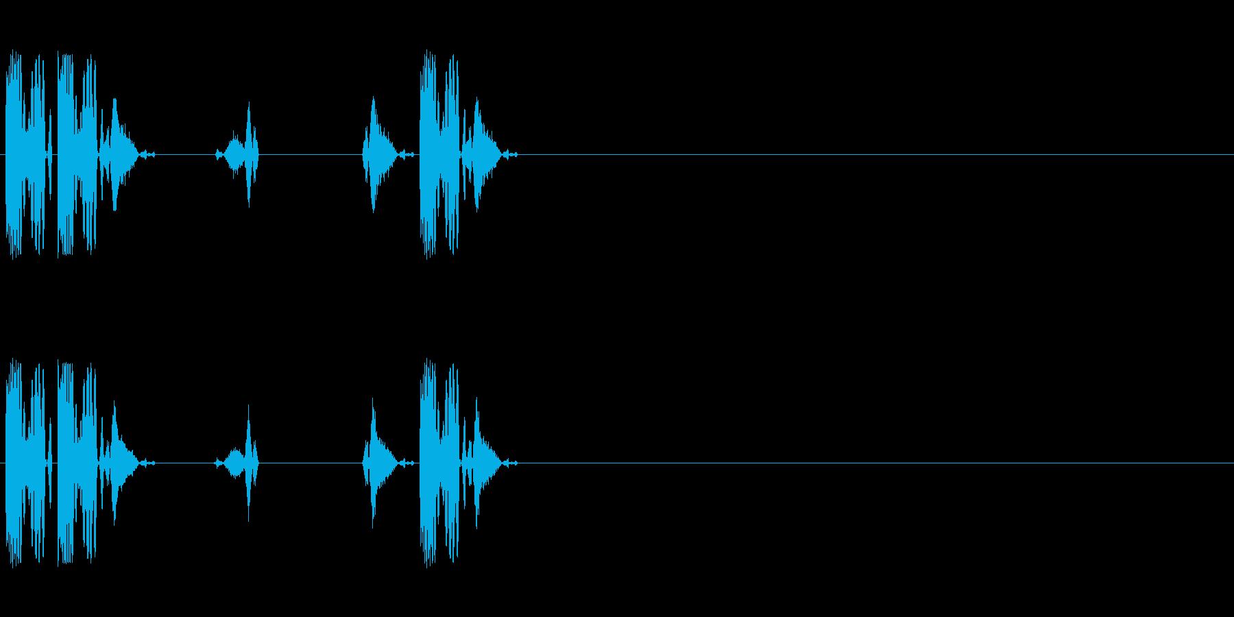DJスクラッチ/ターンテーブル/E-04の再生済みの波形