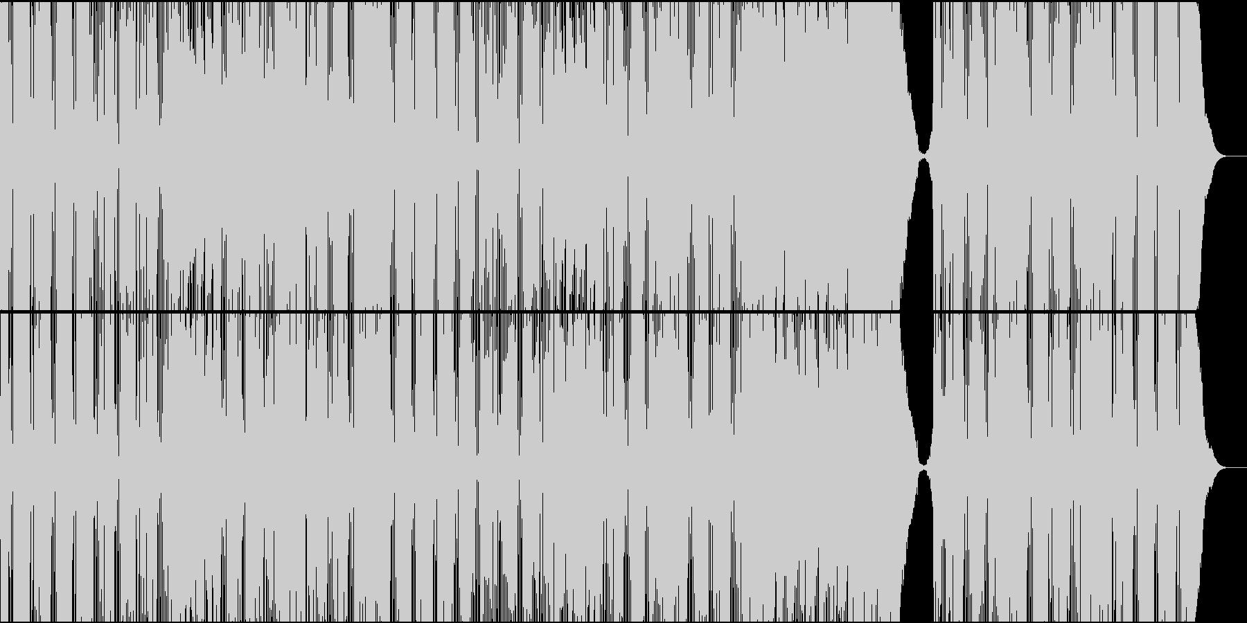爽やかでパワフルな明るいバンドサウンドの未再生の波形