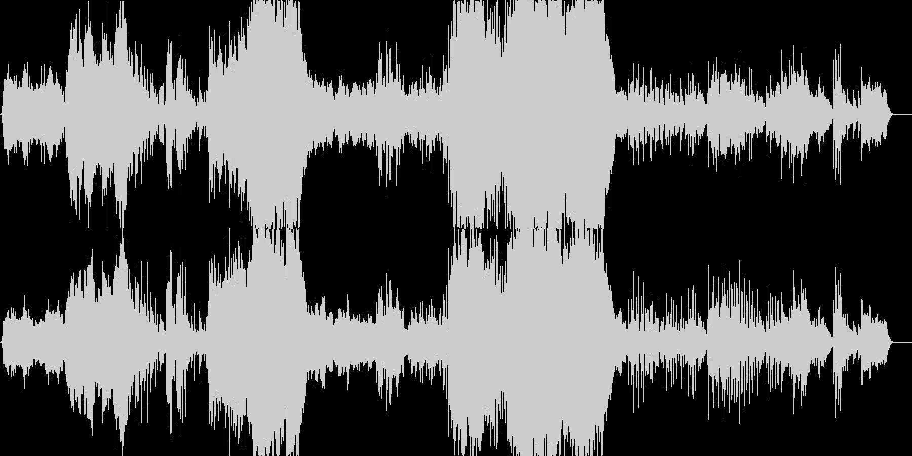 ドラマティックで感動的ピアノコンチェルトの未再生の波形